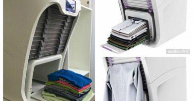 La nueva máquina que plancha y dobla la ropa en 4 segundos